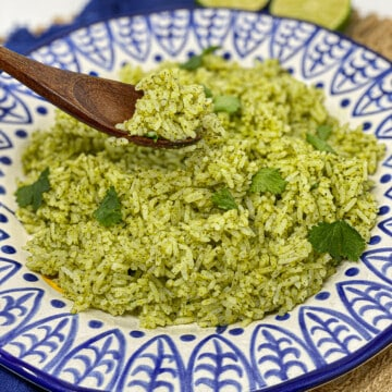 This is the best cilantro lime rice. It is super fluffy, and full of flavor.