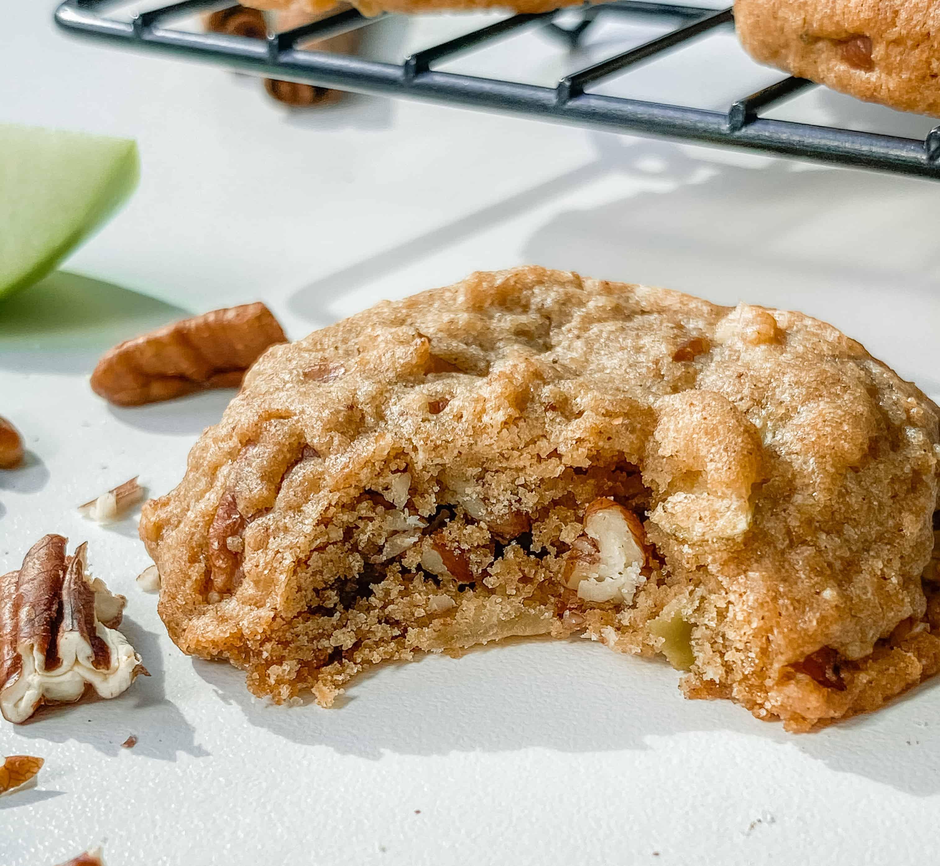 Brown Butter Apple Pecan Cookies