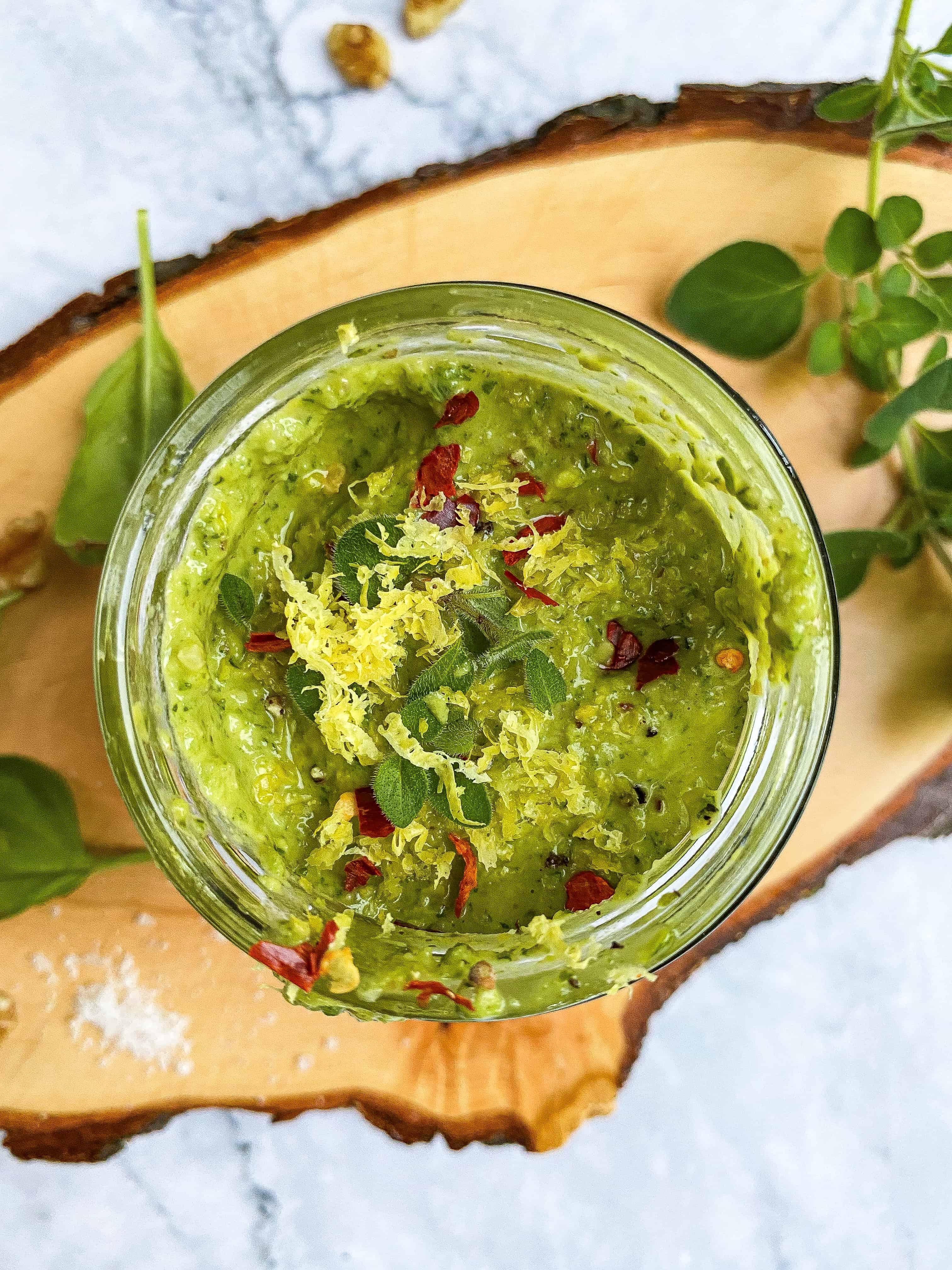 Easy Vegan Basil Walnut Pesto