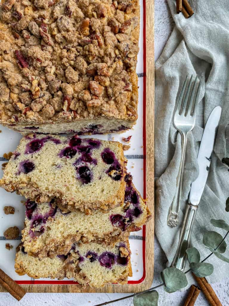 Blueberry Bread (Brown Butter & Streusel Topping)