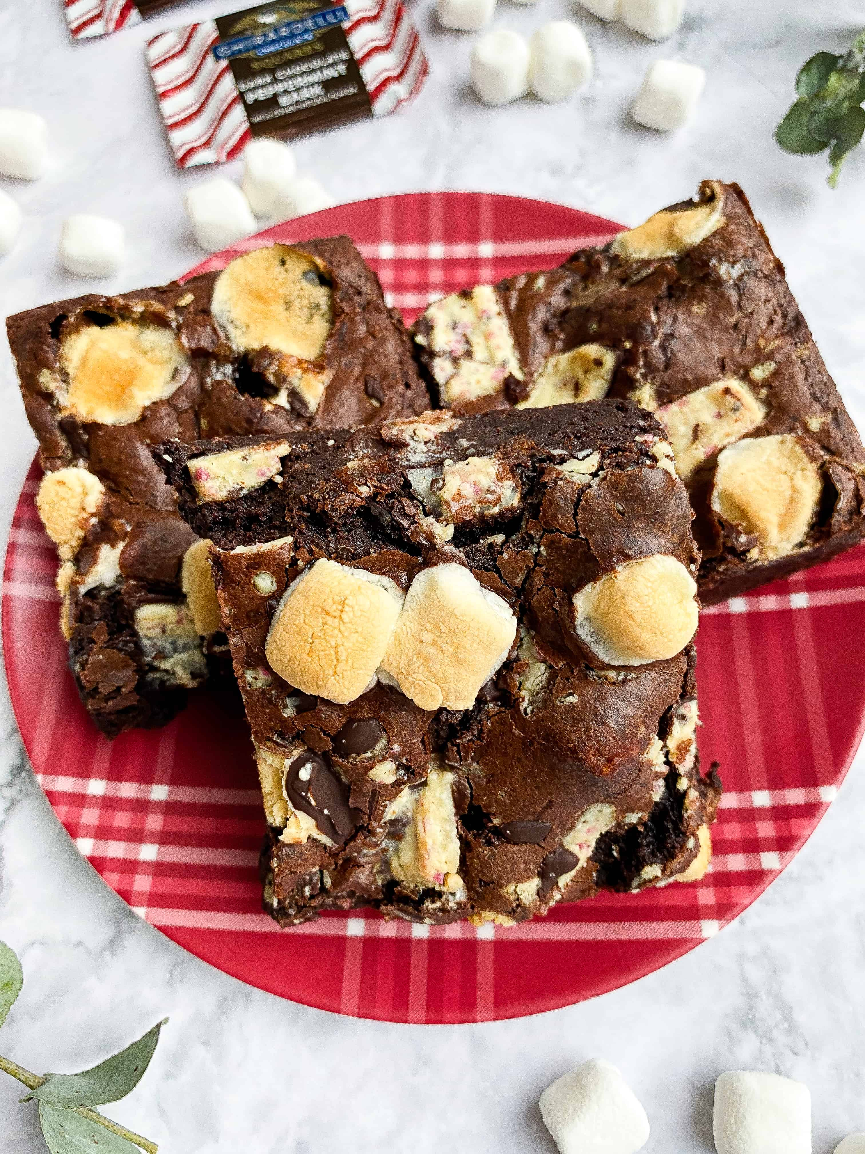 Peppermint Mocha Brownies (Extra Fudgy)