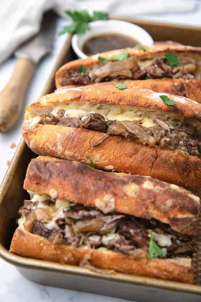 Instant Pot French Dip Sandwiches (Super Easy)
