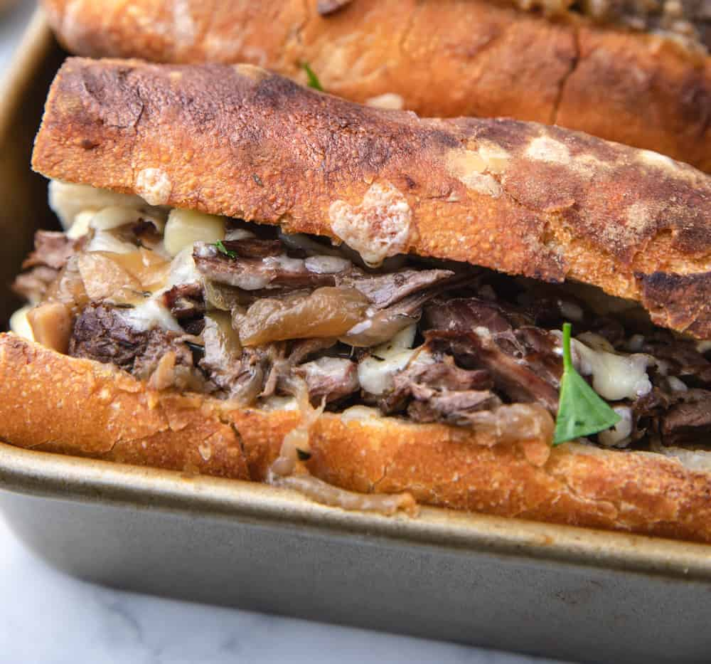 Instant Pot French dip sandwiches