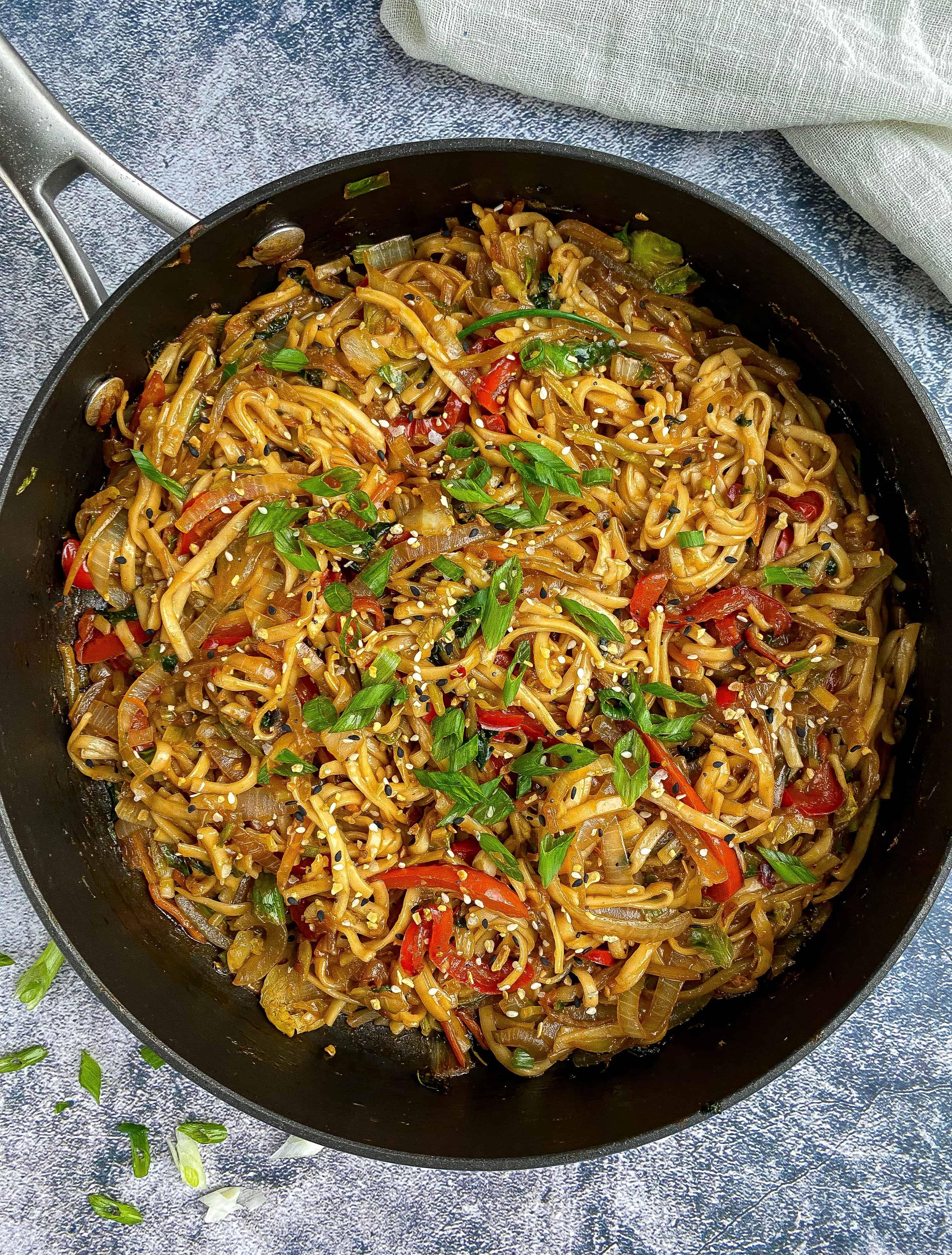 Vegetable Lo Mein (Quick & Easy)