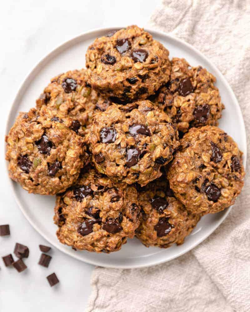 Banana Oatmeal Cookies (Vegan Breakfast Cookies)