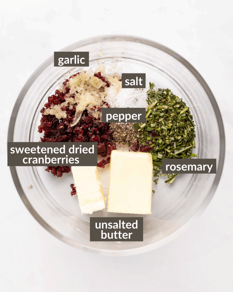 ingredients for the butter