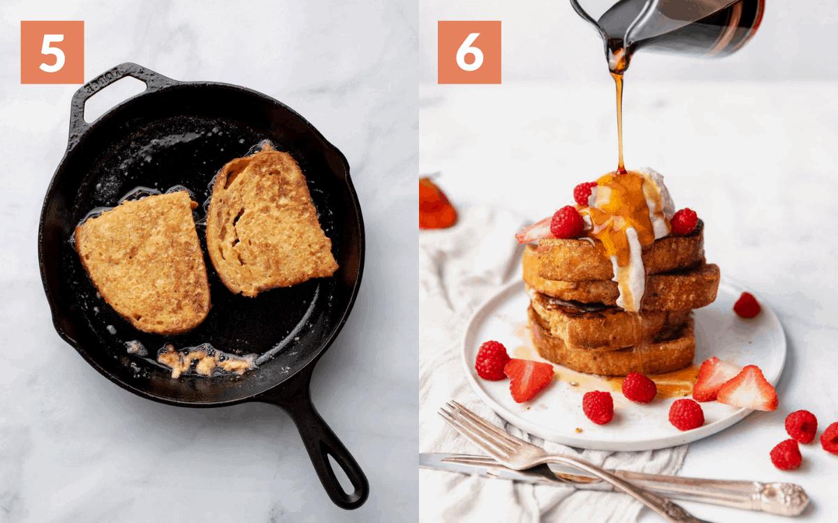 steps 5 & 6 fry until golden serve warm