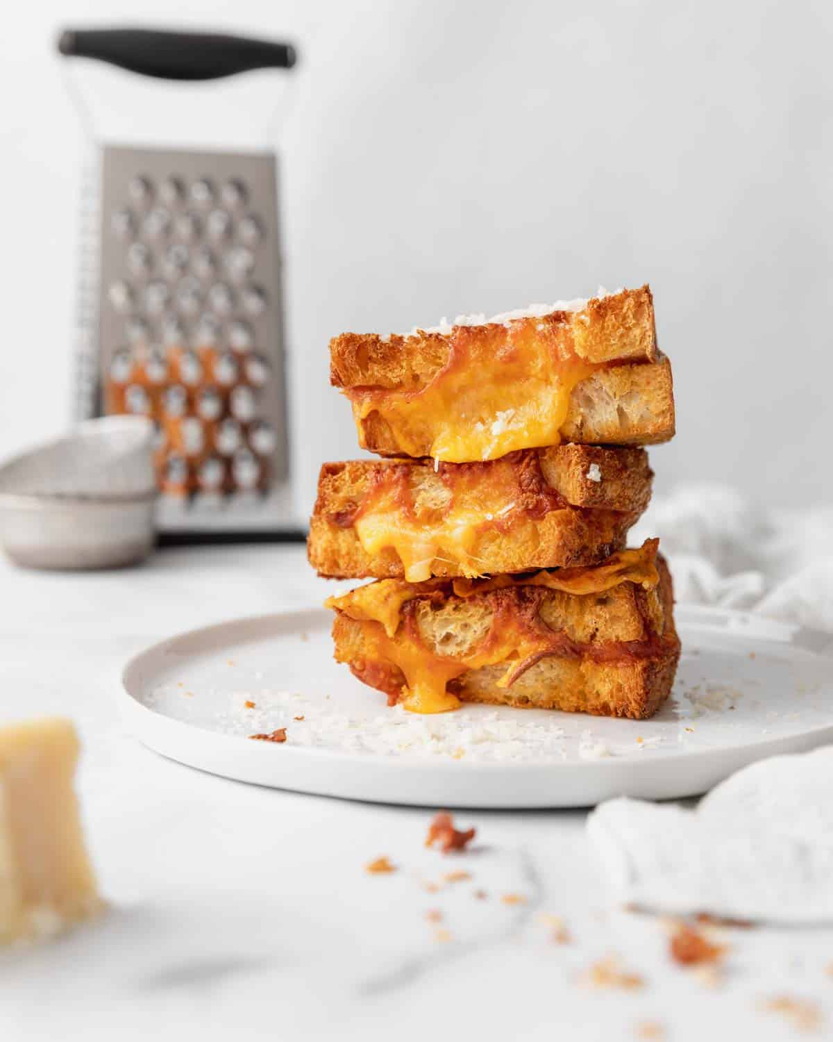 stacked grilled cheeses