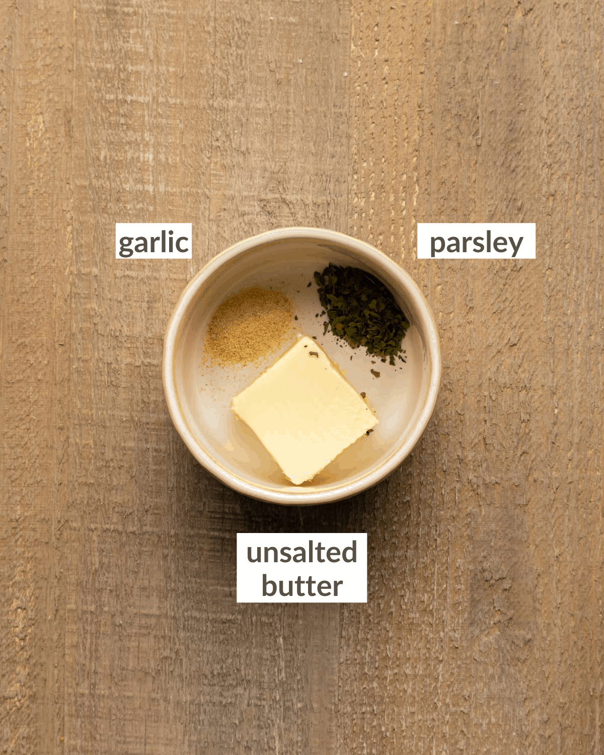 overhead of topping ingredients