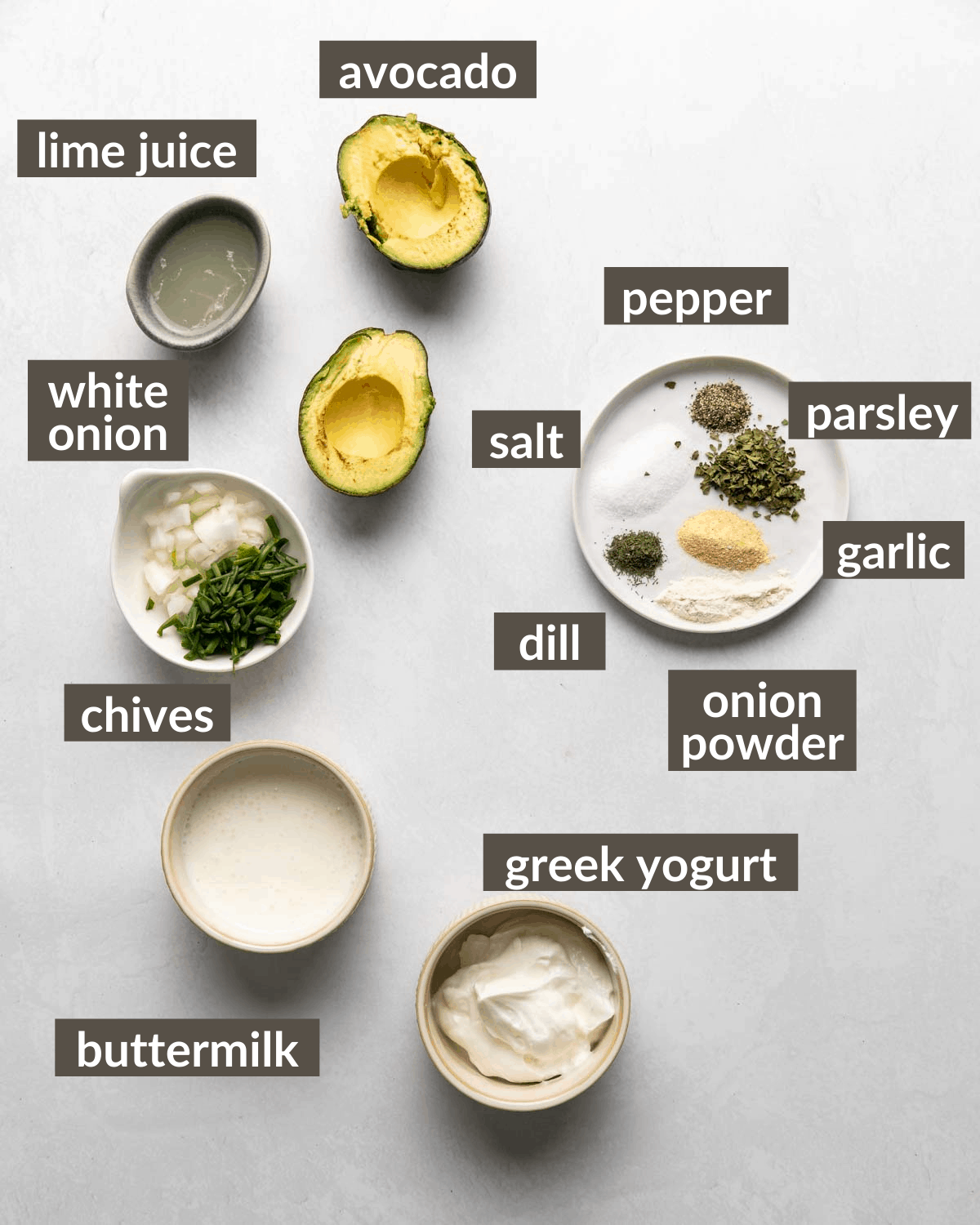 overhead shot of all of the ingredients
