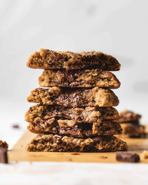stack of cookie halves