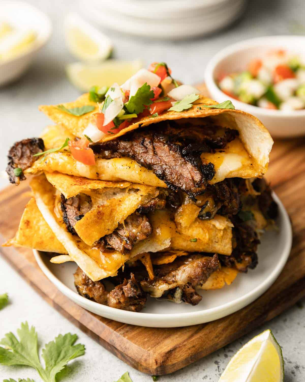 stacked quesadillas