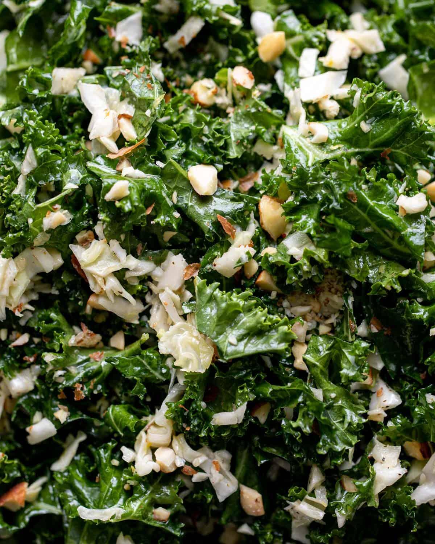 closeup shot of kale