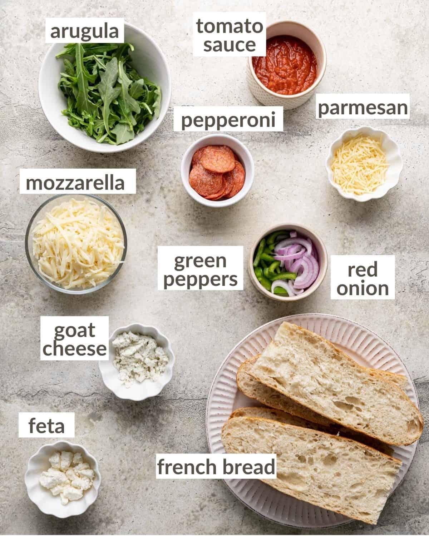 overhead of ingredients