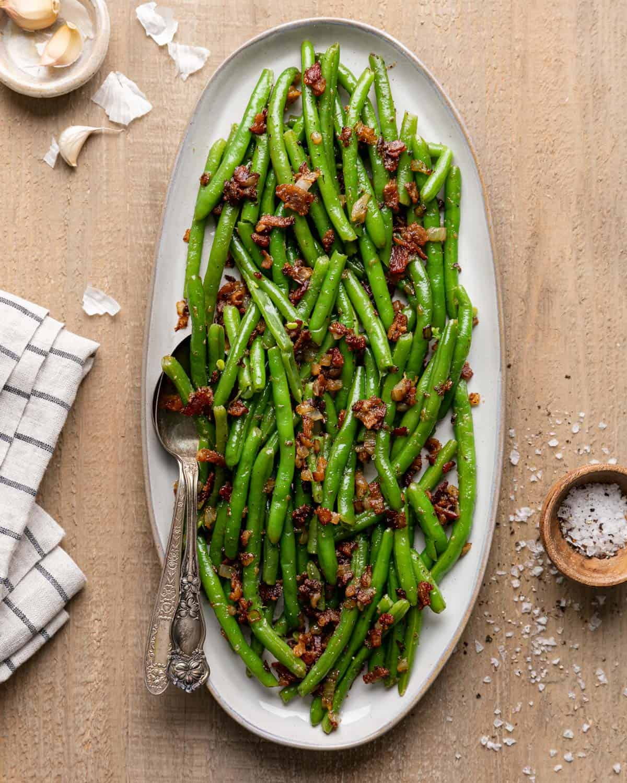 overhead of green beans