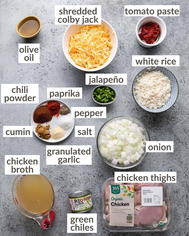 overhead of skillet ingredients