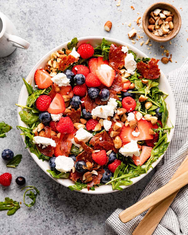 overhead of salad