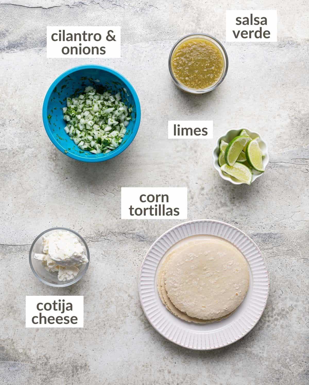 overhead of taco ingredients