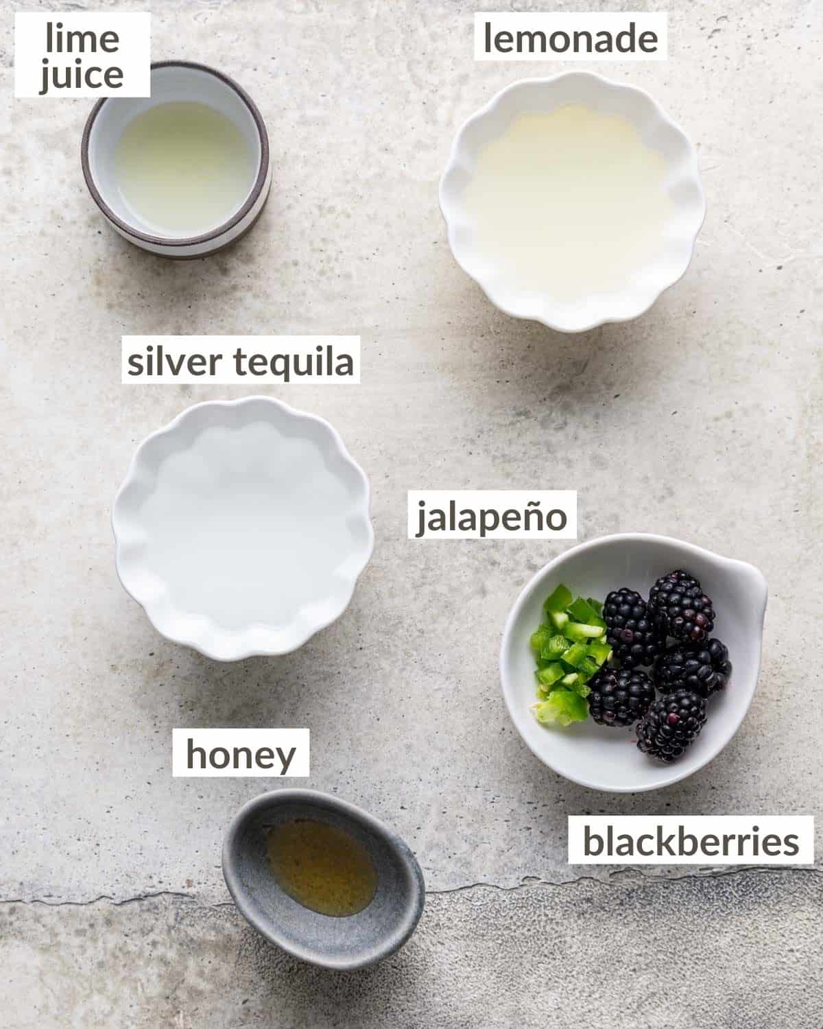 overhead of labeled ingredients
