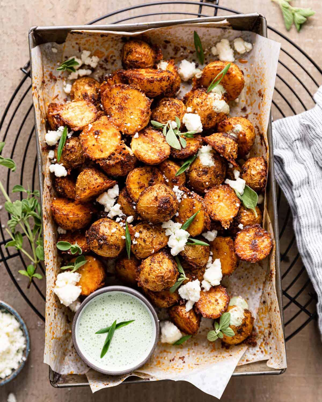 overhead of potatoes
