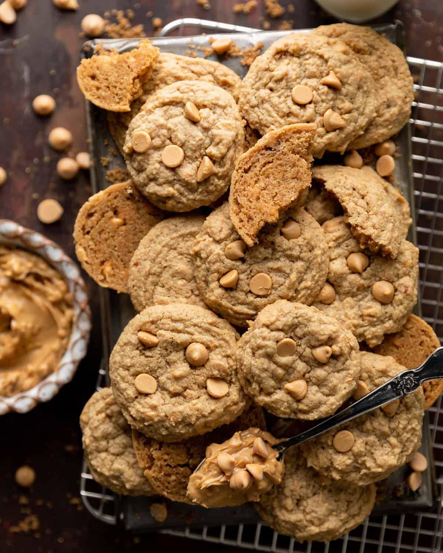 overhead of cookies on cooling rack