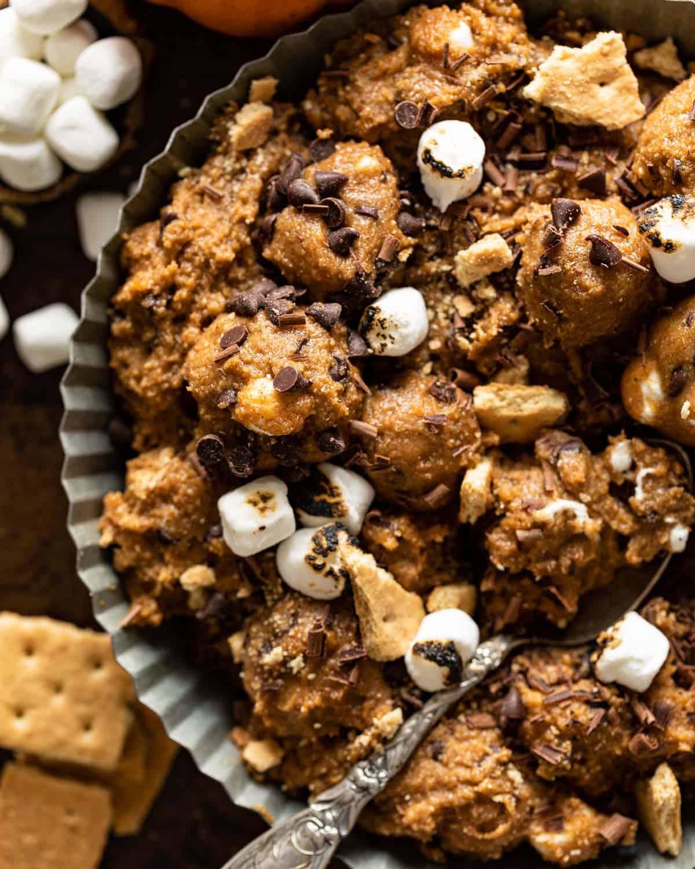 closeup of cookie dough